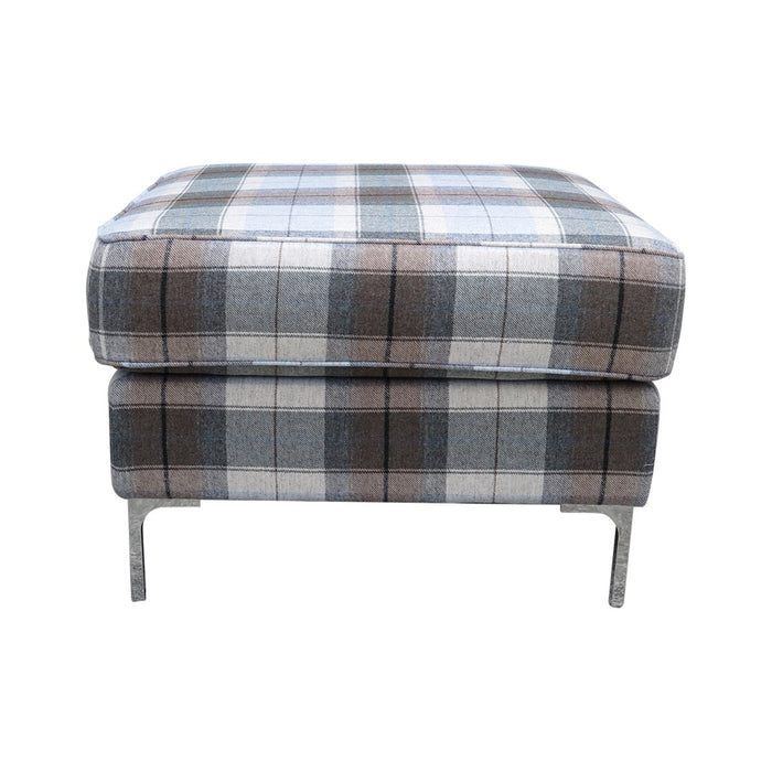 Square Pillow Top Ottoman - Eltham 'Seaglass'