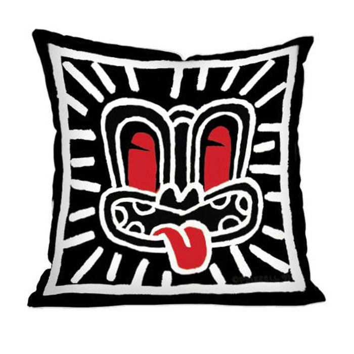 Black haring cushion
