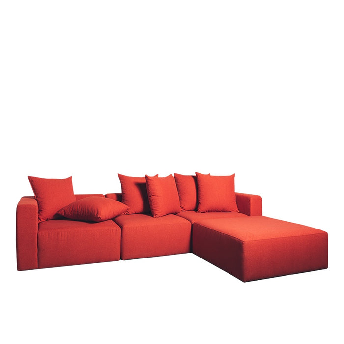 Vito sofa - modular + ottoman - dolly plus 'marmalade'