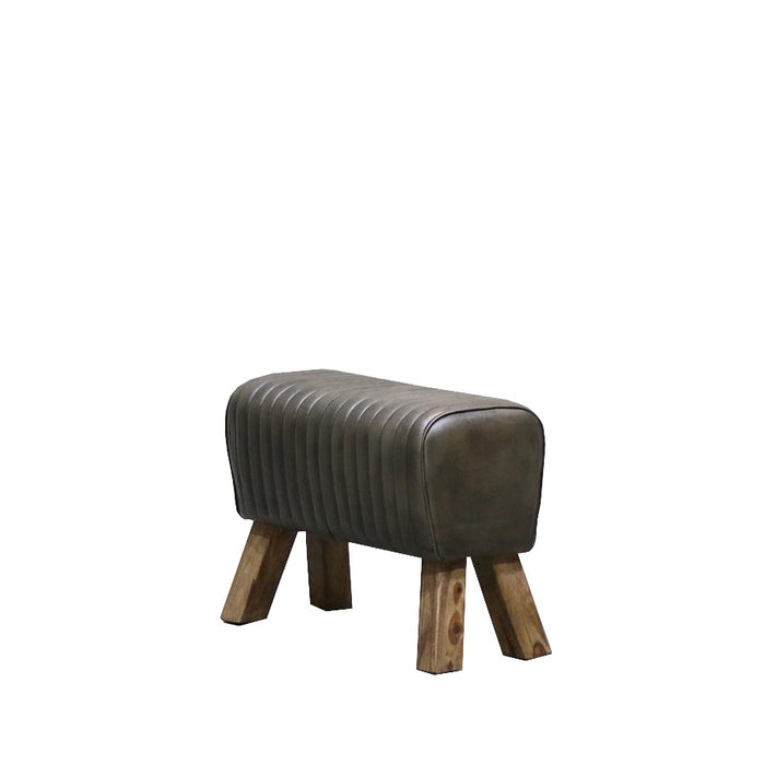 Chandri Ribbed Leather Pommel Bench