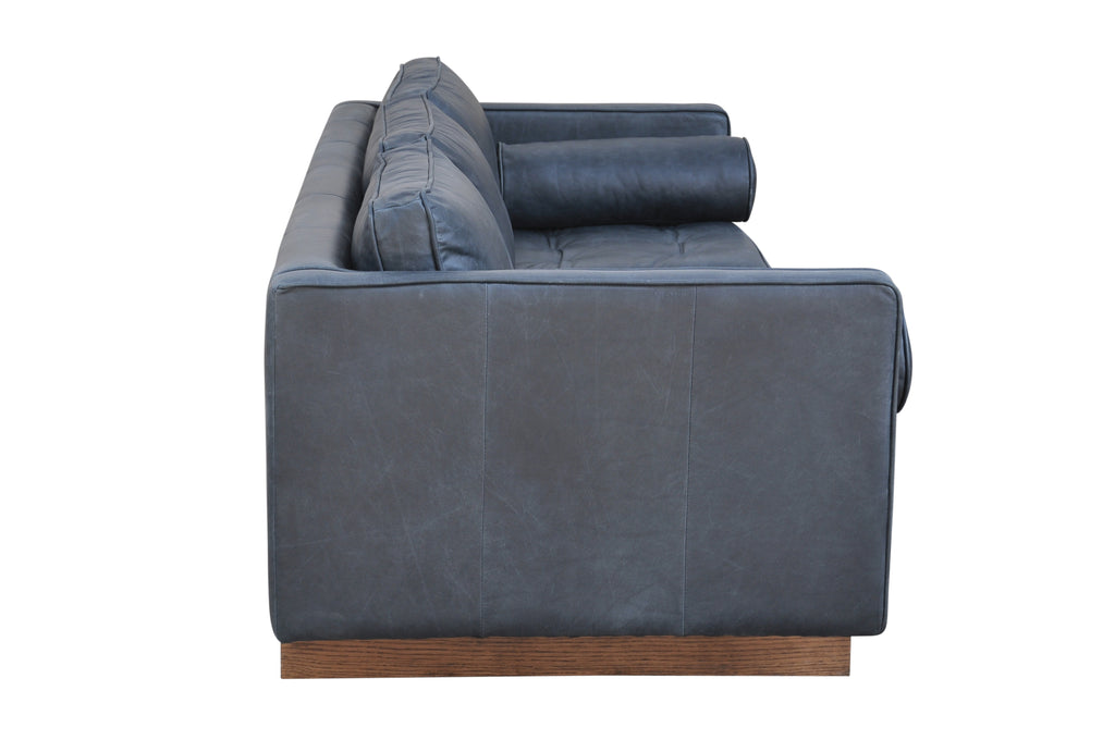 Mars leather 3 seat sofa