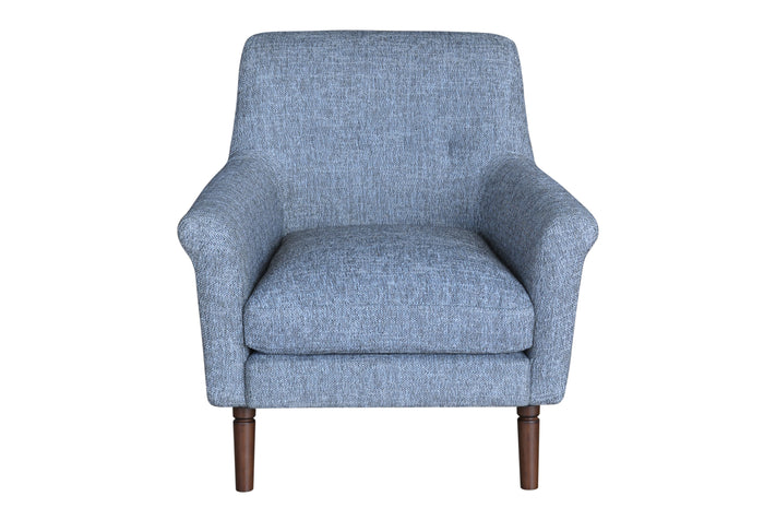 herringbone fabric armchair