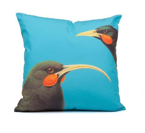 Bright Huia cushion