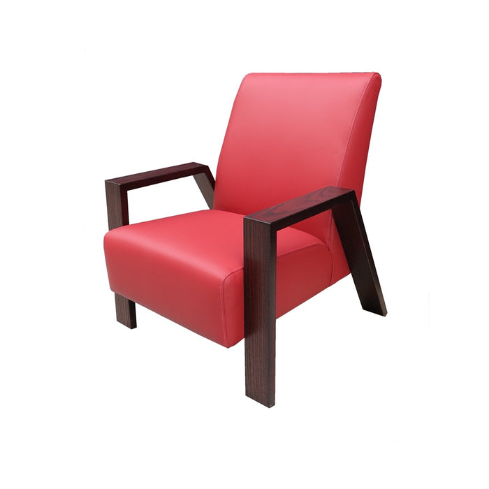 Mogambo Armchair - Matisse Snap Dragon Leather - Red