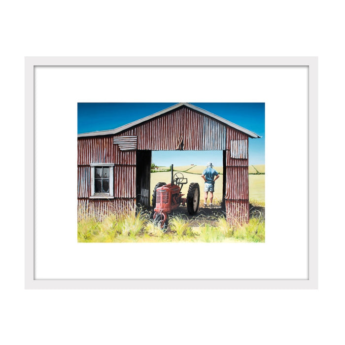The Red Barn Framed Print by Graham Young