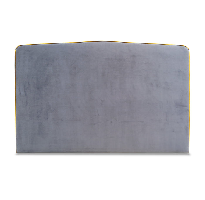 King headboard - plush charcoal