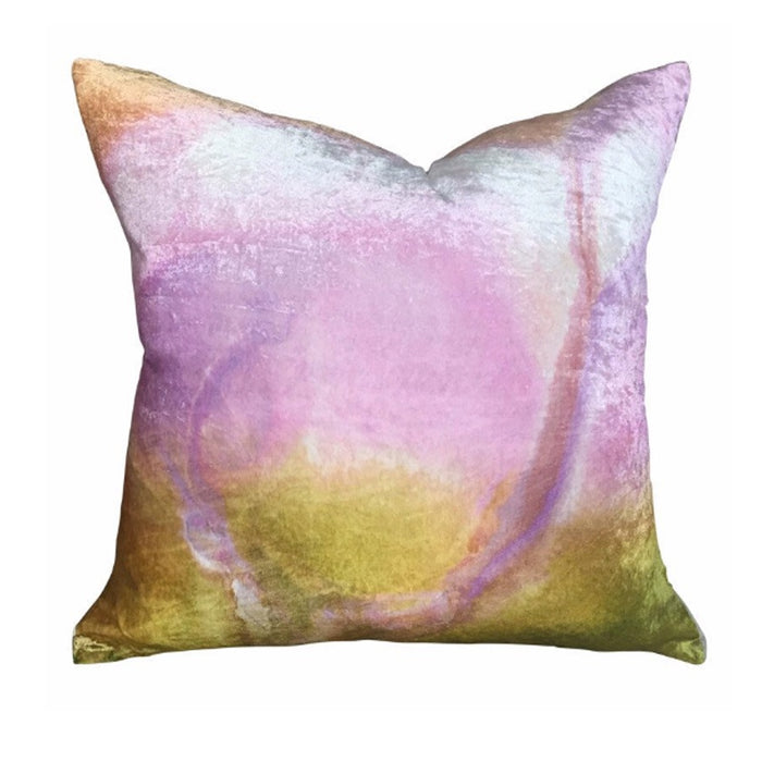 Lilypond linen cushion