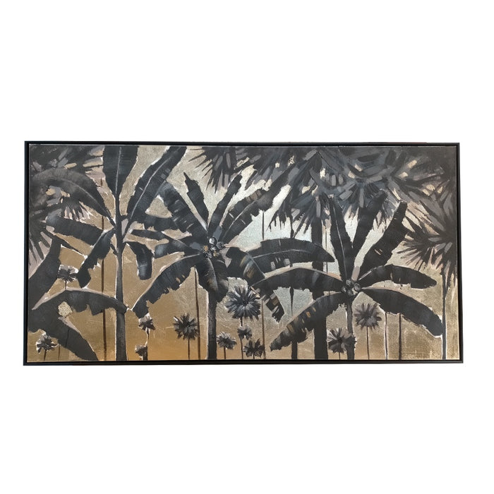 Golden Palms Oil Painting