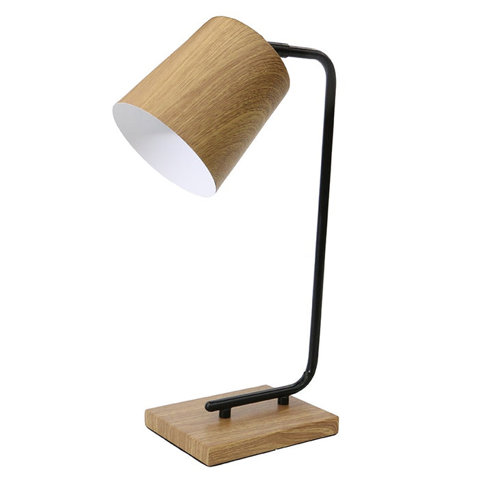 Neate table lamp - wood grain
