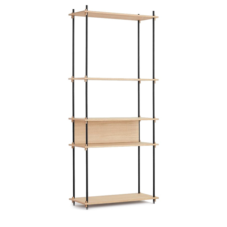 moebe shelving oak tall system