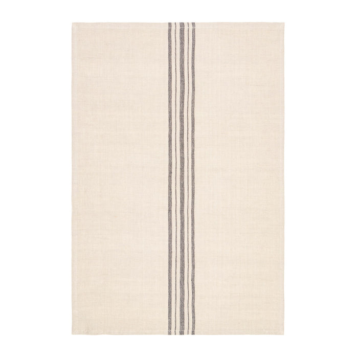 Linen tea towels - black stripe