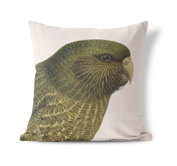 Hushed Kakapo cushion