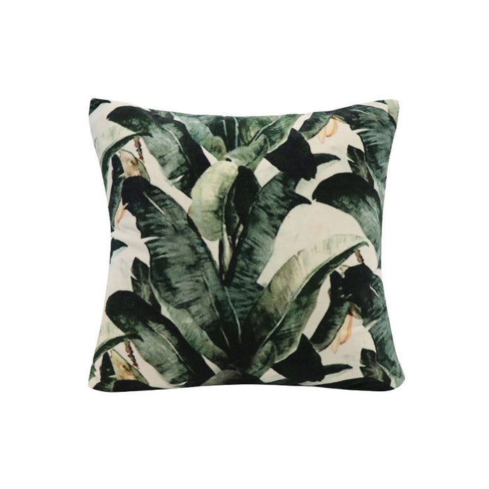 Sari Printed Cushion - Banana Palm