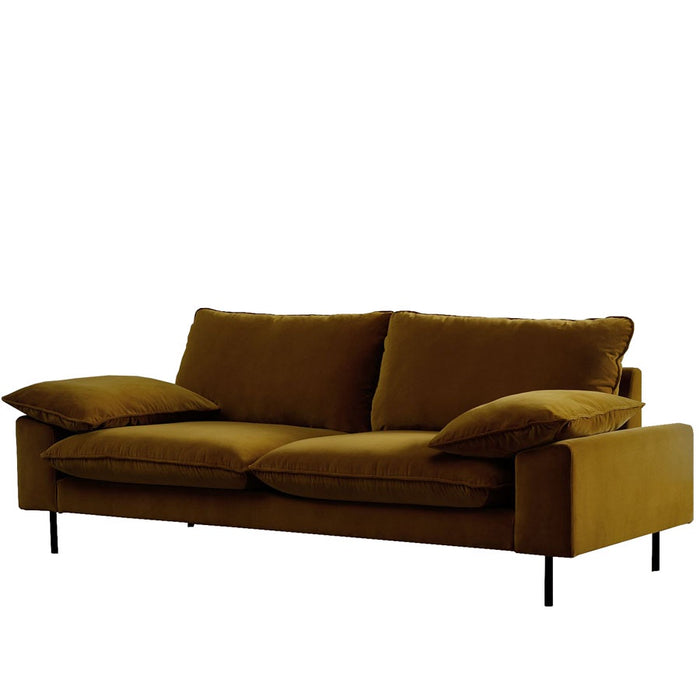 Studio 3seat sofa - Gold Cotton Velvet- angle