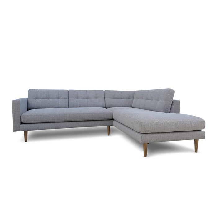 Hamptons 3 Seat Sofa + Corner Chaise - Light Grey