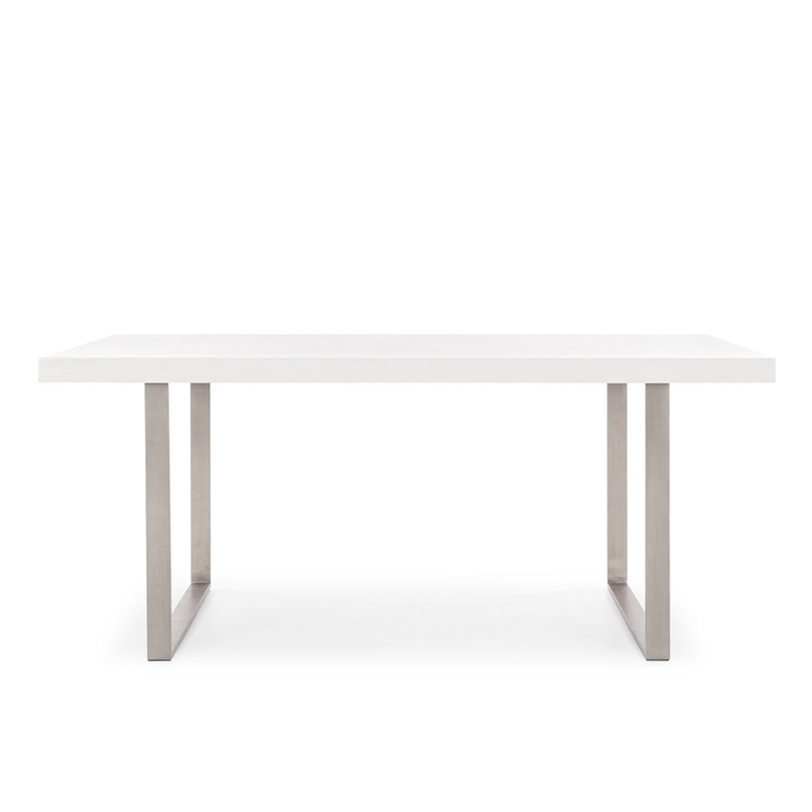 contemporary white dining table