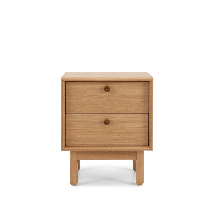 Lars 2 drawer bedside table