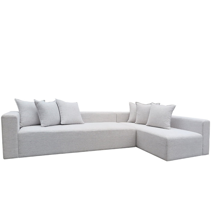 Vito 2 Piece Modular Sofa - Jake 'Silverstreak'