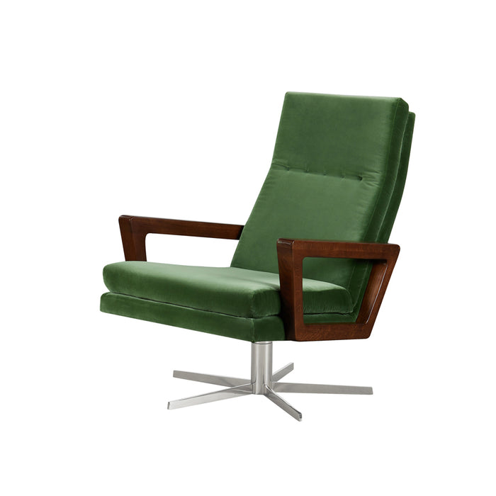 Felix Swivel Armchair - Grass Cotton Velvet