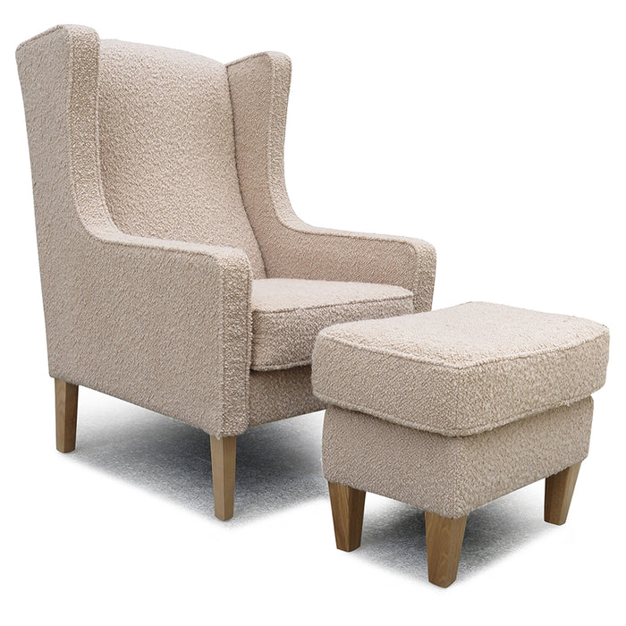 Partridge Chair + Footstool - Fabio 'Buff'