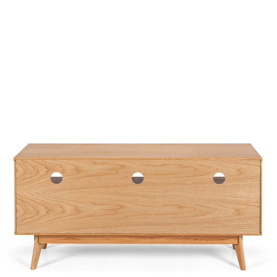 Helsinki 3 Bay TV Unit - Oak