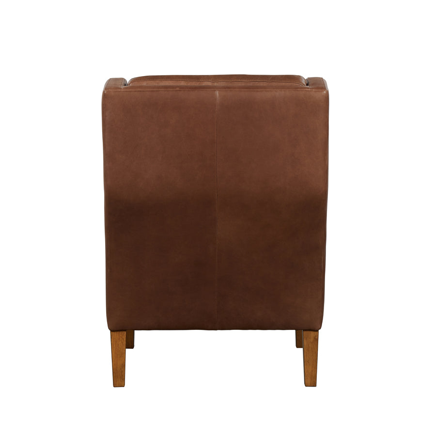 Batman Armchair - Brown Leather - back