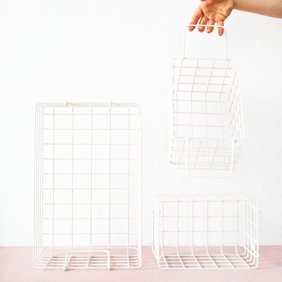 Mustard Made Baskets - white