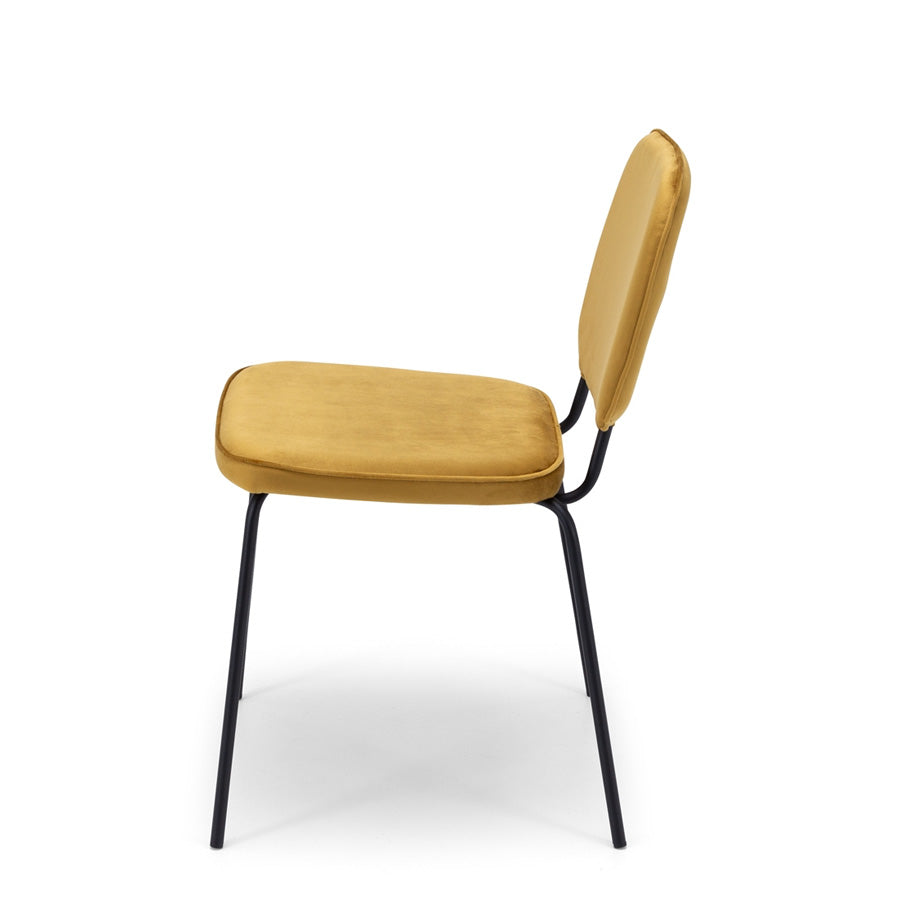 yellow dining chair