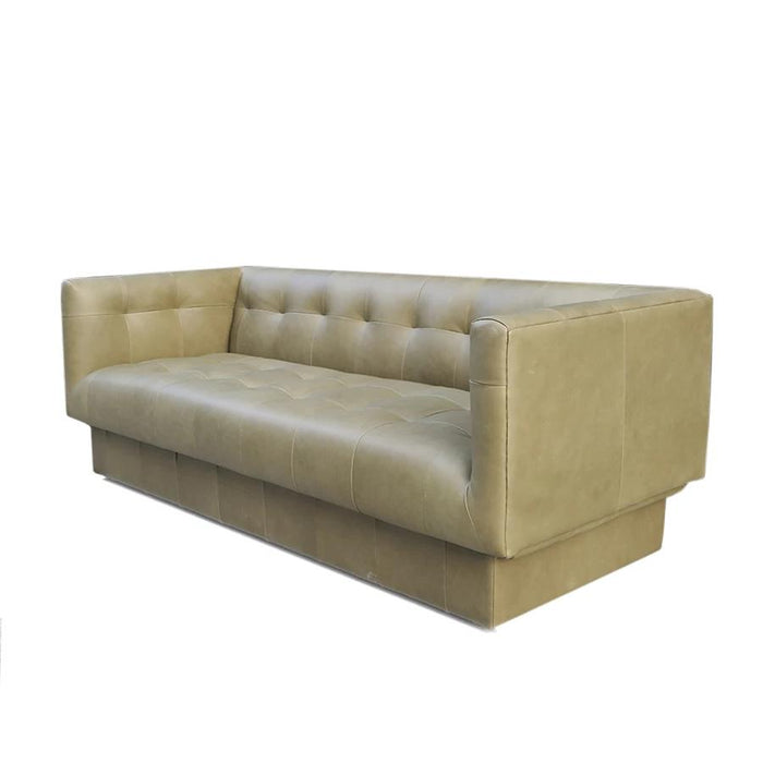 Bruno leather 3 seat sofa - olive - limited stock