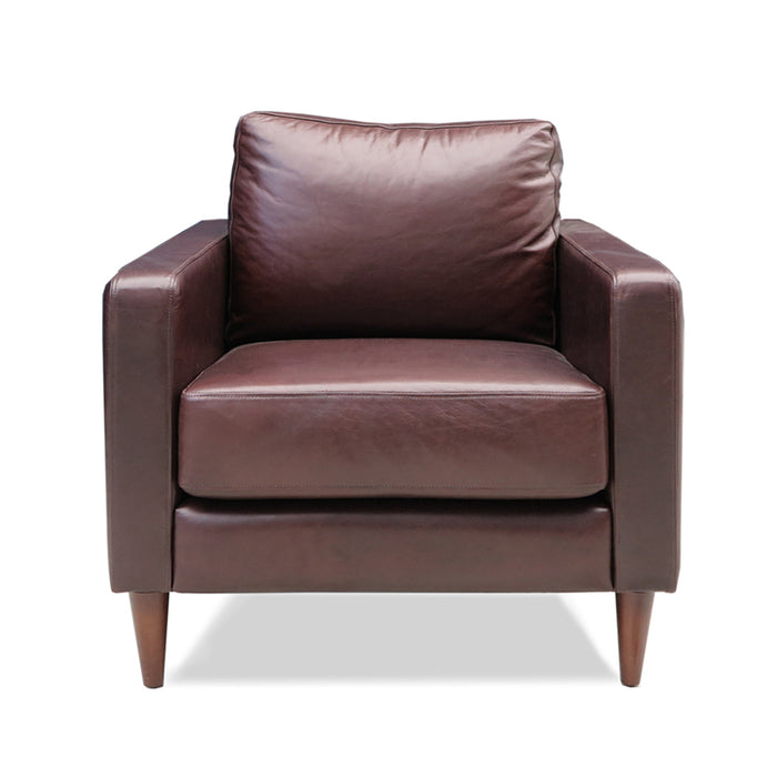 chanel brown leather armchair