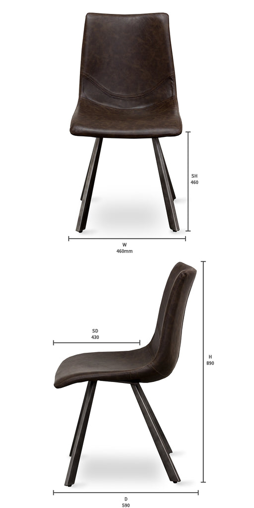 Waihi Dining Chair - Black