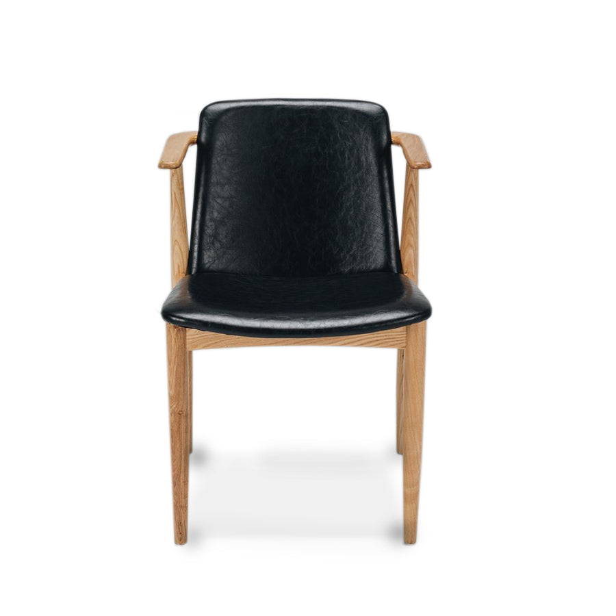 dining chair black and oak