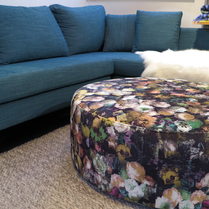 Flowerbomb Fabric Ottoman - 3 colours
