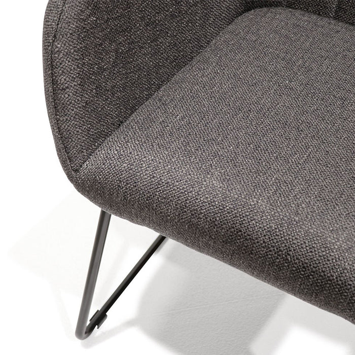 Folio fabric dining chair - charcoal fabric detail