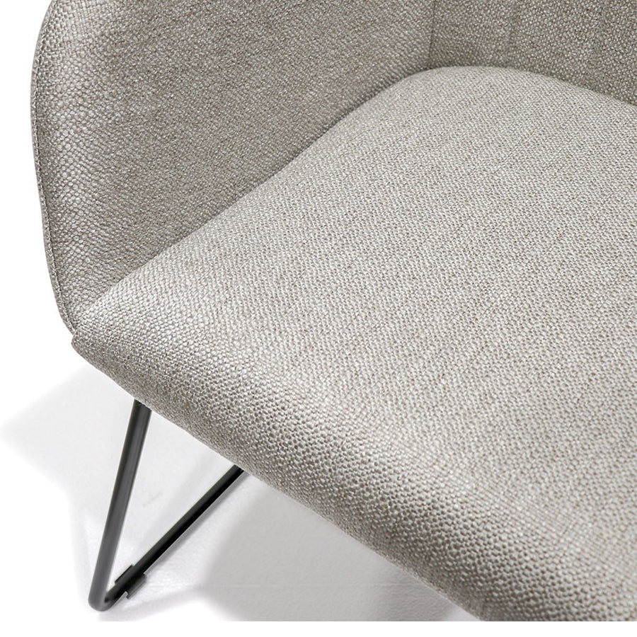 Folio Fabric Dining Chair - Grey details