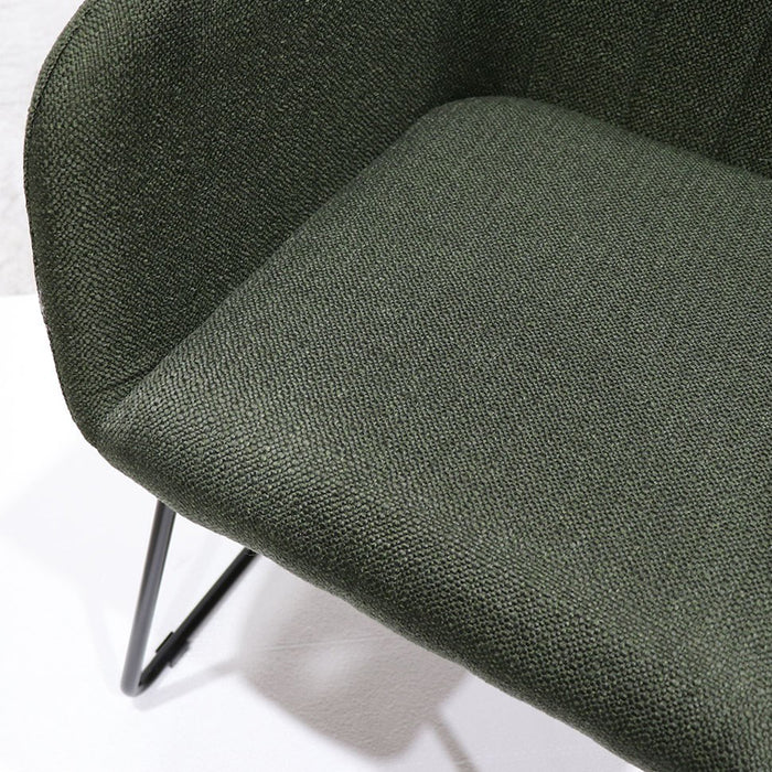 Folio Dining Chair - Green. Sleigh legs.