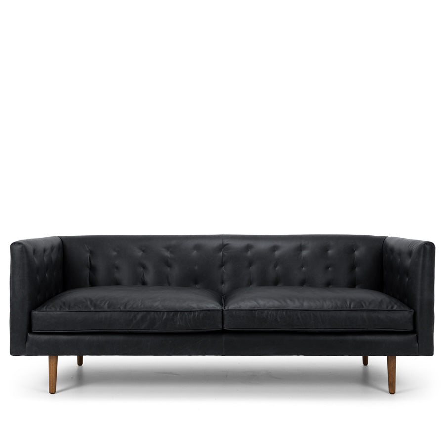 Yogi 3 seat Leather Sofa - Charme Black
