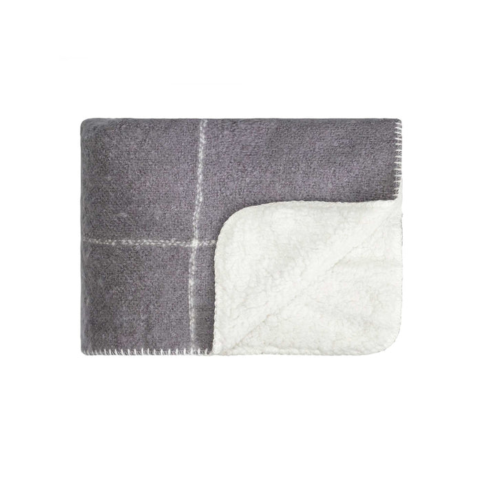 Gride Sherpa Throw - Frost Grey