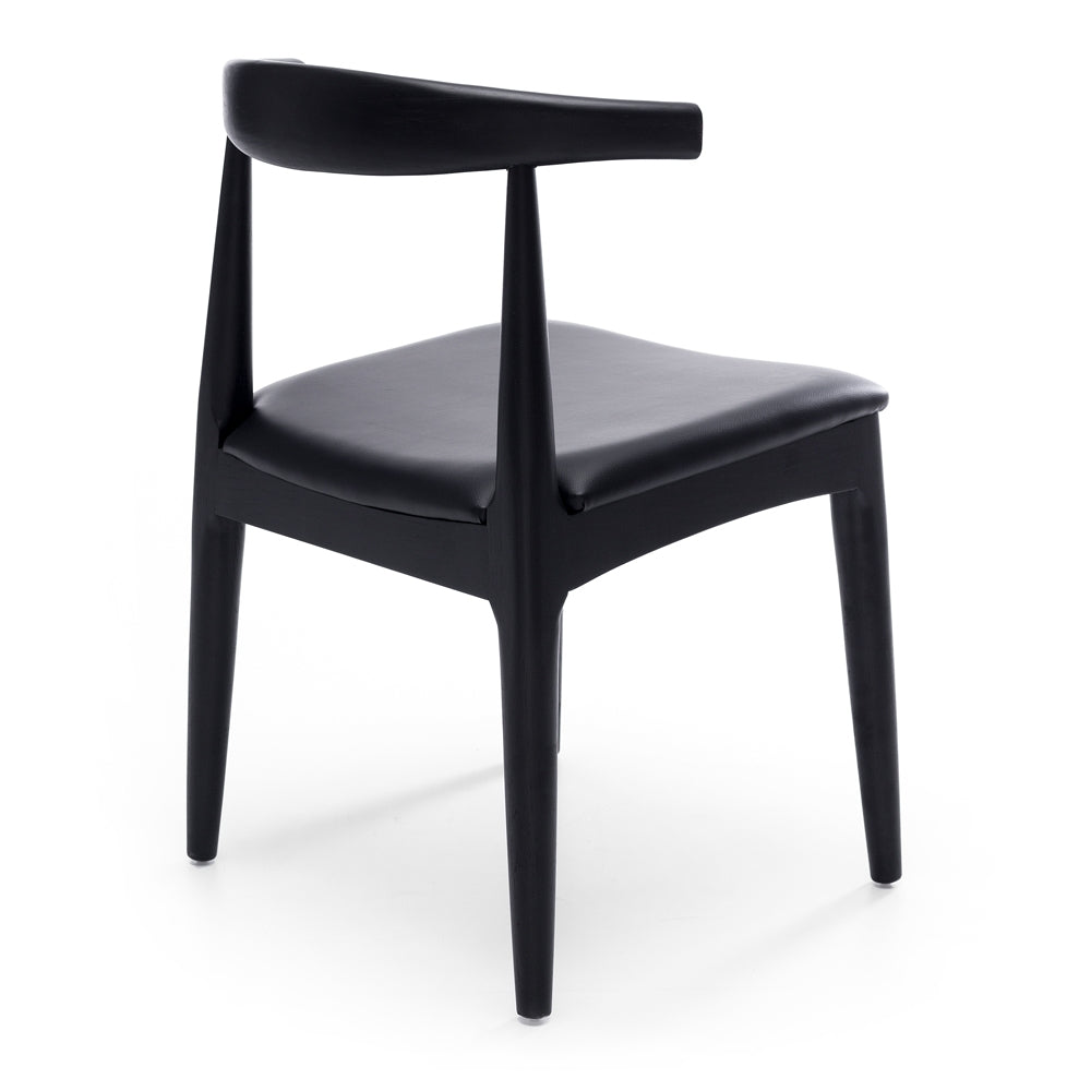 dining chair black oak
