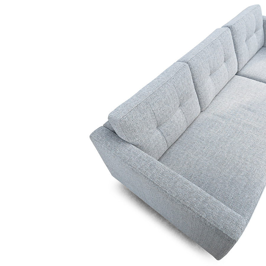 Hamptons 3 Seat Reversible Chaise - Light Grey