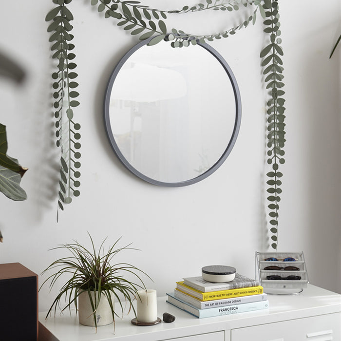 Umbra Hub Circle Wall Mirror - Grey - 450Dmm