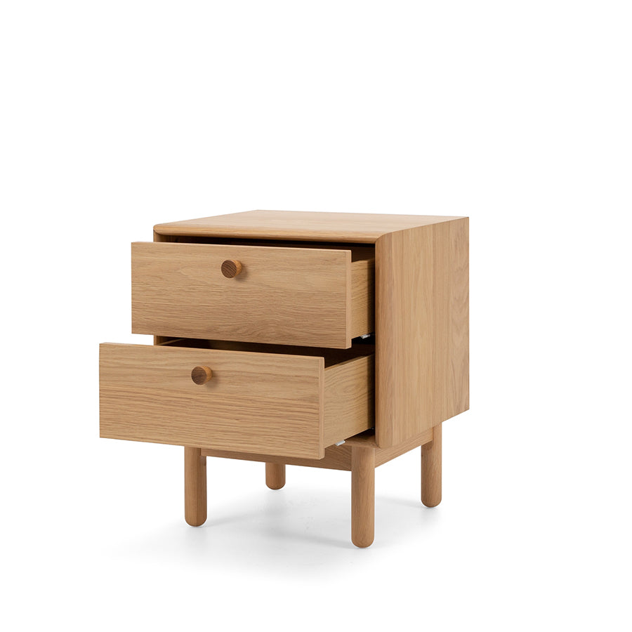 Lars 2 Drawer Bedside Table Stacks Furniture Wellington