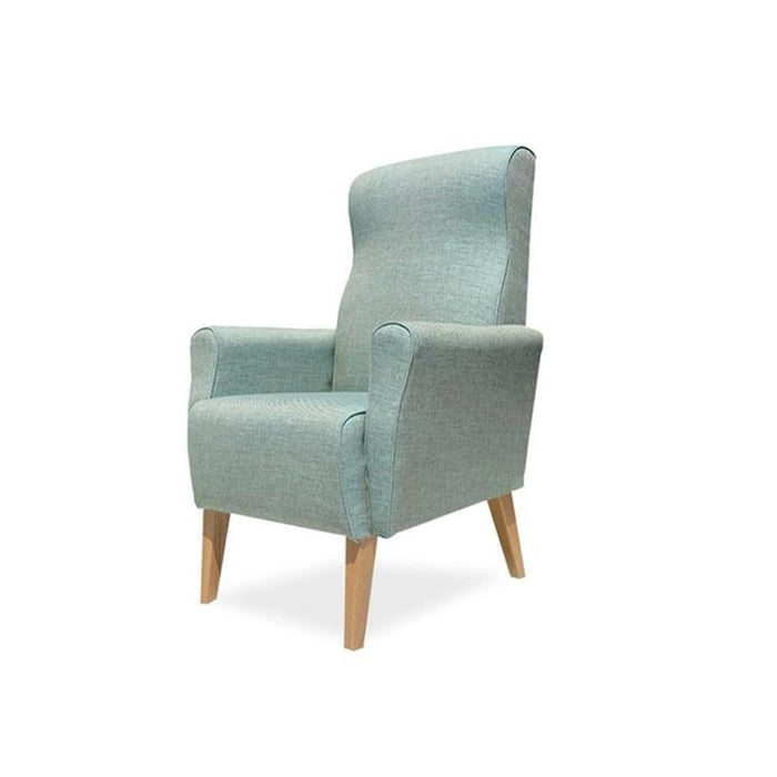 Lily Armchair in light green fabric