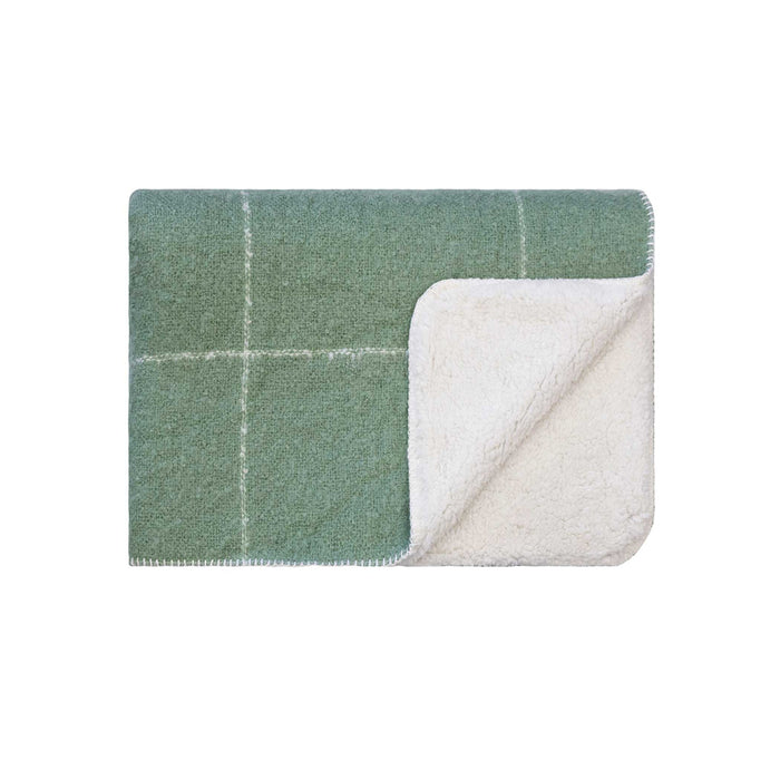 Grid Sherpa Throw - Loden Forest