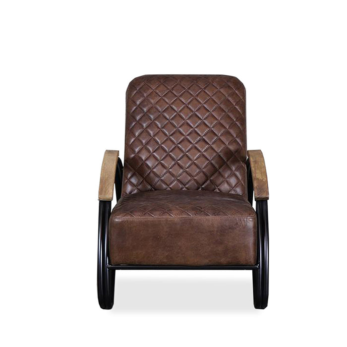 Mackenzie Leather Armchair - brown