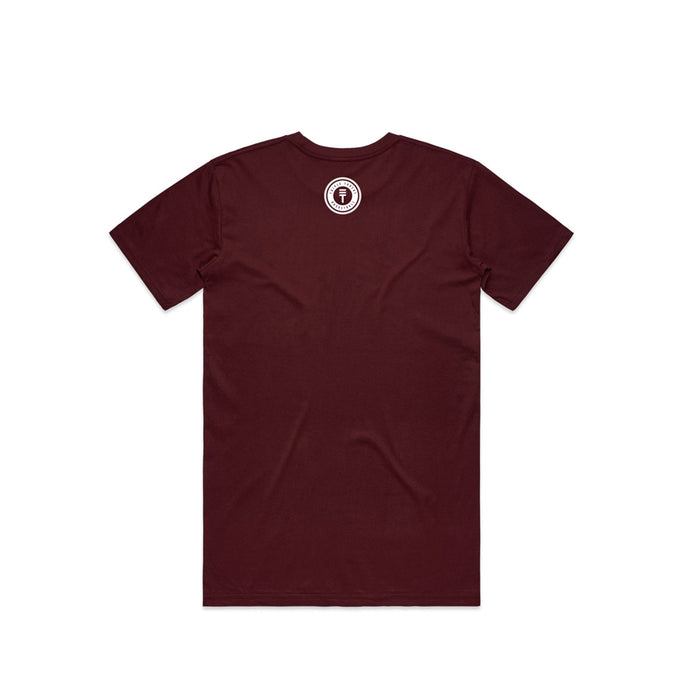 Newtown T-Shirt - Maroon back
