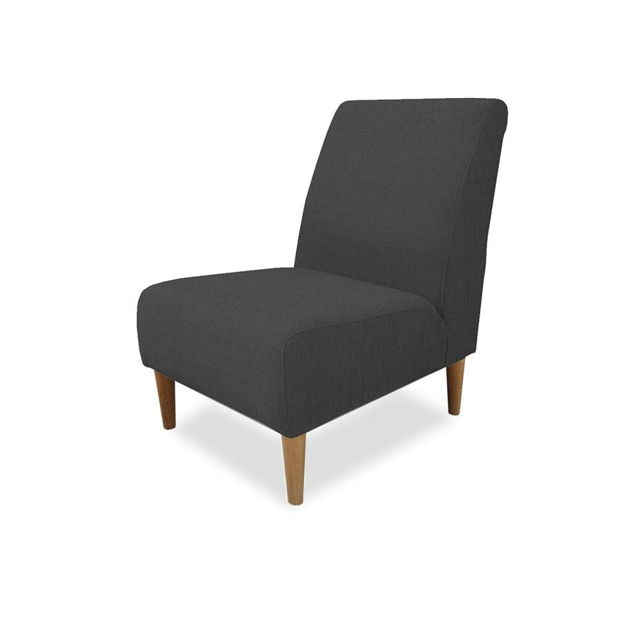 Marseille Armchair in black fabric