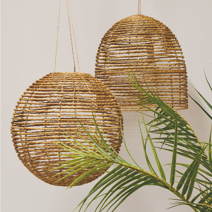 Metro Jute Light Shade and Beehive Jute Light Shade