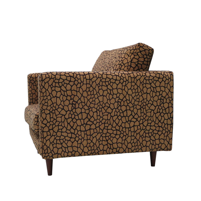 Monterey Armchair animal print feather filled