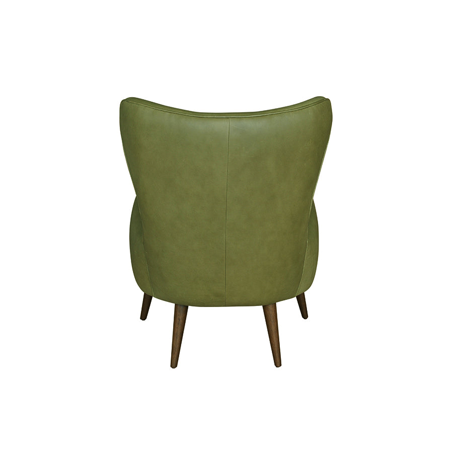 Apollo Armchair - Olive Leather 1/2 Price !